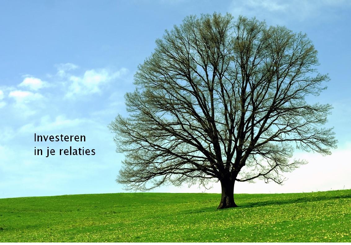 Investeren in relaties - Daar ben je! Levenskunst